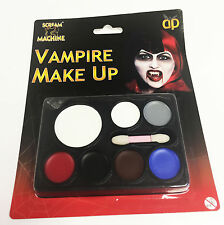 Halloween Make Up Set Vampire Zombie Maleficent Face Paint White Red Paints