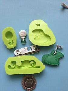 Golf theme silicone mould set 1 - cake decorating, fimo, sports, hobbies