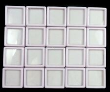 20 Pcs 3x3 Cm Wholesale Gem Display plastic box Storage for Gemstones/Diamond