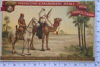 Carabinieri Reali divisione della Tripolitania cartolina campagne d'Africa