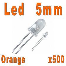 Lot de 500 LED 5mm Oranges 5000mcd