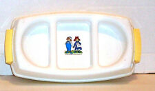 Raggedy Ann & Andy 3 Section Food Warmer Serving Dish Without Cord Vintage