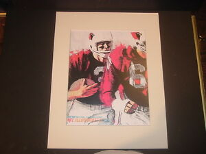 Repro 1966 St. Louis Cardinals Dave Boss NFL Illustrated Football Matted Print