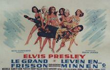 """""""LE GRAND FRISSON (LIVE A LITTLE,LOVE A LITTLE)""""Affiche belge ent. Elvis PRESLEY"""