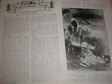 Article Life on an Ocean Tramp by Frank T Bullen 1902 merchant sailor life