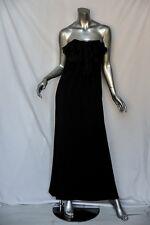 VALENTINO Black STRAPLESS*SILK RUFFLE*Cascading Evening Gown Formal Long Dress 2