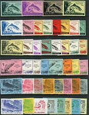1953-1974 New Jersey Fish & Game Trout Stamps Mint Original Gum Set of 44