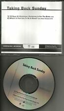 TAKING BACK SUNDAY 12 Days of CHRISTMAS & What if feels LIVE PROMO DJ CD single