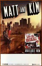 MATT AND KIM Lightning Ltd Ed Discontinued RARE Poster +FREE Rock/Indie Poster!