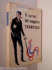 IL CARNET DEL MAGGIORE THOMPSON Pierre Daninos Elmo 1955 romanzo libro racconto