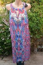 Crossroads Rainbow Holiday Cut out Neck Summer Party Dress Size 20