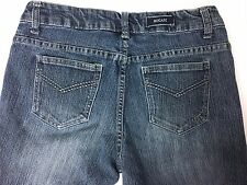 Women's Bogari Casual Straight Leg Blue Denim Jean Pants SZ 6 Stretch