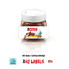 Nutella - Personalised Label - Make your own label - 25g / x42 Labels