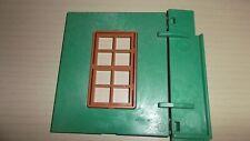 Playmobil Rückwand grün links mit Schanier Fenster Western Drug Store 3462 3424