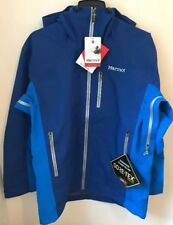 NWTs Marmot Men's La Meije Gore-Tex Ski Jacket / Shell. Large. Blue (MSRP $550)