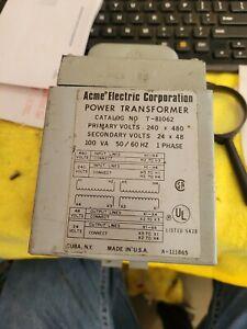 Acme Electric T-81062 Transformer, 480/240Vac, 48/24Vac, 100Va, Hz: 60 00400