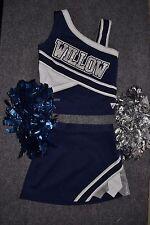 Adult REAL Cheerleader Uniform Costume Pom Cheer High School Blue TOP or SKIRT