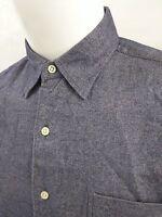 RALPH LAUREN Marlowe Mens Size LARGE Blue Herringbone Long Sleeve Shirt