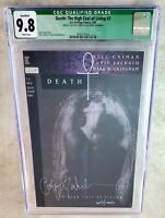 Death The High Cost of Living #3 SIGNED Vertigo 1993 CGC 9.8 NM/MT Comic I0080