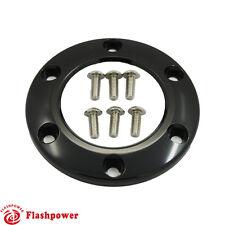 Steering Wheel Horn Button Black Center Ring For 6 Bolts MOMO/NRG