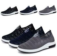 Mens Leisure Shoes Mesh Breathable Flats Hollow out Outdoors Slip on Loafers New