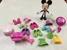 DISNEY MINNIE MOUSE BOWTIQUE DOLL W SNAP ON CLOTHES   BIG LOT