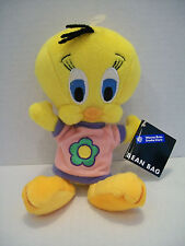 Warner Bros Tweety Flower Power Shirt Beanbag Plush