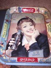 ORIGINAL Vintage Coke Coca Cola Soda Pop Serving Tray 1953 English Activities