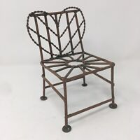 "Boyds Collection 6"" Metal Chair for Bears Dolls & Animals Display Piece Seat"
