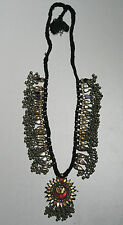Ancien collier argent et verre Inde - old silver and glass necklace India