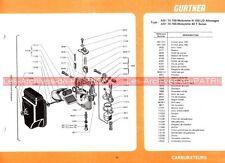 MOTOBECANE Mobylette N 150 LD 40 T AV 40 5 49 68 88 : Fiche Carburateur GURTNER