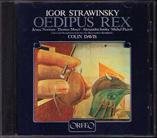 STRAVINSKY Oedipus Rex JESSYE NORMAN COLIN DAVIS CD Thomas Moser Nimsgern 1983