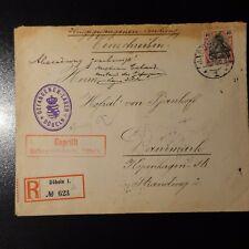 LETTRE RECOMMANDE COVER PRISONNIER DE GUERRE DOBLEN 1915 -> COPENHAGUE DANEMARK