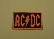 patch écusson AC DC brodé et thermocollant 7/4.5cm