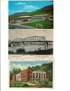 3 Card West Virginia Lot, Bluefield Motel, Wheeling Bridge, Berkeley Springs Inn