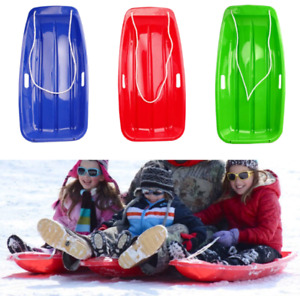 Snow Sled Sledge Outdoor Winter Toboggan Sleigh for Kids Adult Skiing Unisex