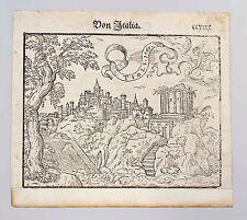 Holzschnitt aus Cosmographia Sebastian Münster Ansicht von Tivoli 1567 7763007
