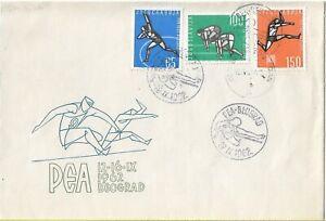 FDC 1962 Yugoslavia PEA Sports Pesme Igre Naroda Jugoslavije Folklore Games
