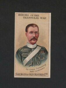 Salmon & Gluckstein Heroes Transvaal War Col Greene 1901 Excellent