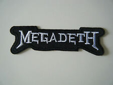 MEGADETH PATCH Silver Embroidered Iron On Heavy Thrash Metal Band Logo Badge NEW