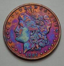 1897-P Morgan Dollar TONED Superb US Silver Coin $1.00 , NO RESERVE !!!