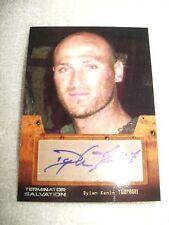 Terminator Salvation Autograph Card Dylan Kenin as Turnbull