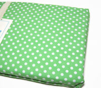 Pottery Barn Kids Green White Mini Dot Polka White Dot Full Queen Duvet Cover