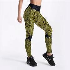 Woman Slim Legging Mandala Geometric Printed S-4XL elastic Legging  3Color