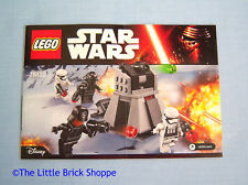 Lego Star Wars 75132 First Order Battle Pack - INSTRUCTION BOOK ONLY - No Lego