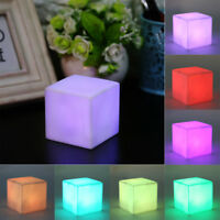 LED Cube Light Multi-Color Cordless Night Lamp Gadget Home Party Decor Gift