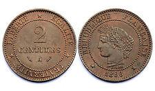 2 Centimes 1896 A. Cérès. France. Bronze. Qualité!!!