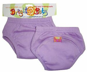 Bright Bots 2x Washable Potty Training Pull Up Pants Mauve Med up to 18m - SALE