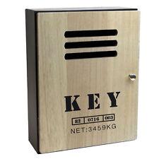 Schlüsselkasten 8 Haken H30cm Schlüsselschrank Schlüsselbox Metallkorpus Holztür