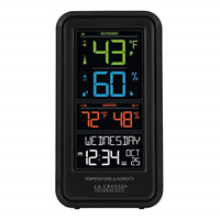 La Crosse Technology S82967-INT Wireless Digital Personal Weather Station, Black